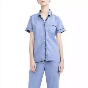 J. Crew Size L PJ Vintage Pajama Shirt Top ONLY